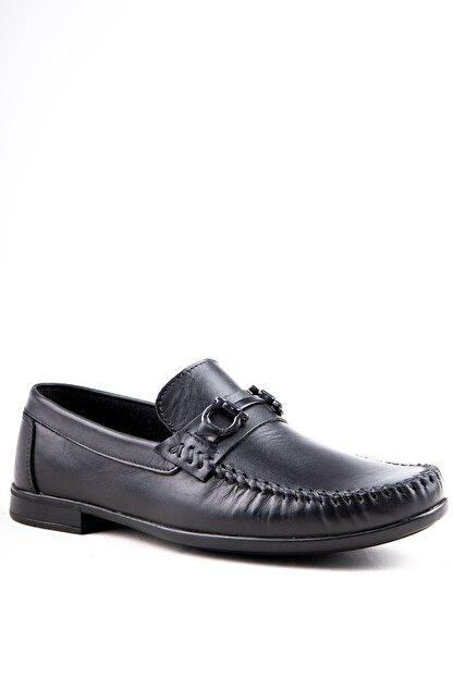 Milano Brava Hakiki Deri Günlük Loafer Erkek Ayakkabı Hsm904 Siyah