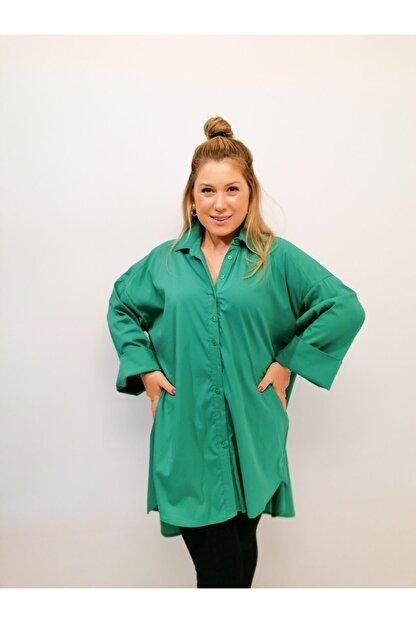 Serpirella Butik Yeşil Tunik Gömlek