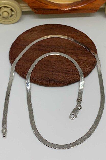 Artuklu Telkari Italyan Ezme Rodyum Gümüş 45cm Zincir Kolye