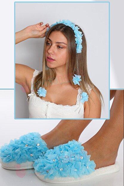 lohusahamile Lh23321 Mavi Sarkan Tac Ve Beylem Lohusa Terlik Seti