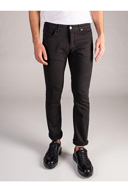 Dufy Siyah Düz Erkek Pantolon - Regular Fit