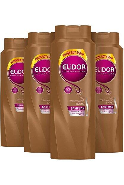 Elidor Saç Dökülmesine Karşı Şampuan 650 Ml X 4 Lü Set