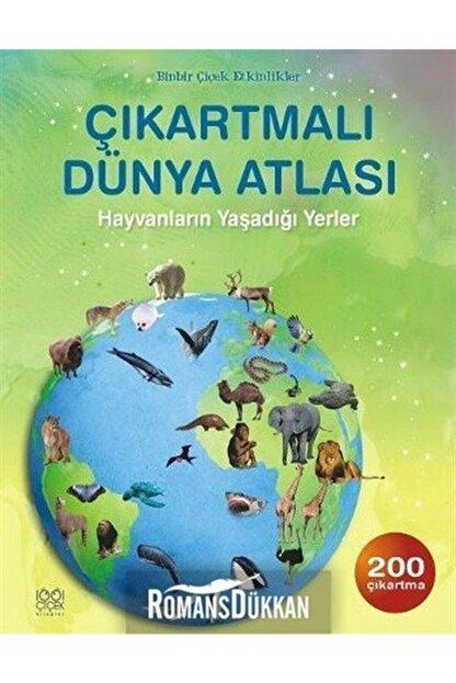 1001 Çiçek Kitaplar Çıkartmalı Dünya Atlası Hayvanların Yaşadığı Yerler