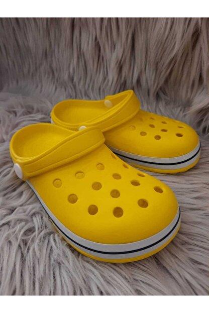 Akınalbella Çocuk Sarı Beyaz Lacivert Crocs Terlik