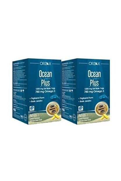 Orzax Plus 1200 mg Omega3 Balık Yağı 50 Kapsül 2 Adet Skt:04/2023