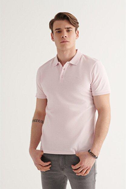 Avva Erkek Açık Pembe Polo Yaka Düz T-shirt A11b1146