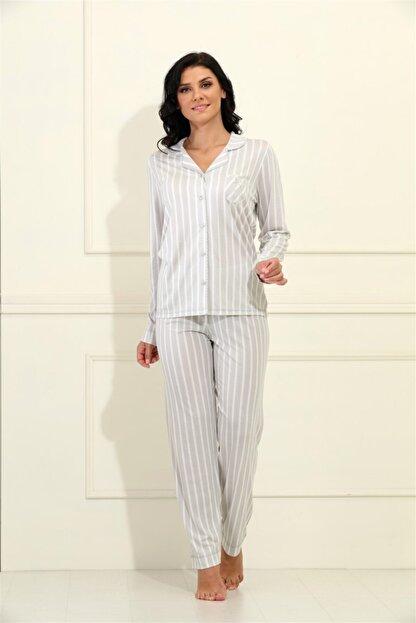Etoile Yazlık Uzun Kol Bambu Pijama Takımı Büyük Beden S - 5xl Arası / 98034