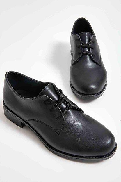 Bambi Siyah Kadın Oxford Ayakkabı M0626144209