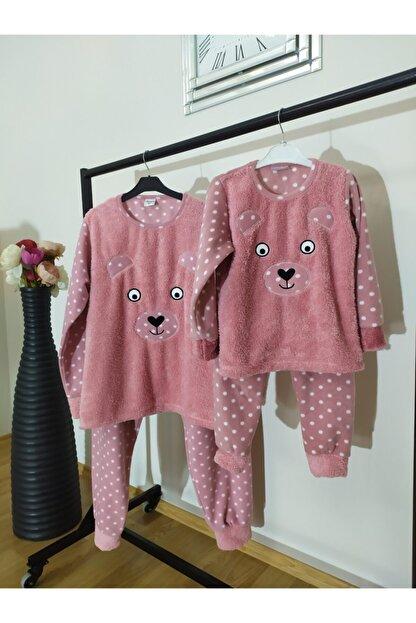 Irmak kids Anne Kız Polar Pijama Takım