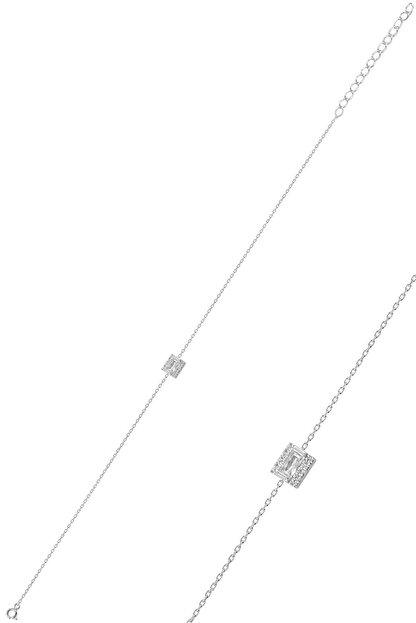 Söğütlü Silver Gümüş Rodyumlu Baget Bileklik