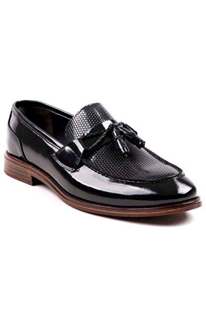 MPP Hakiki Deri Loafer Erkek Ayakkabı Trs508 Rugan Siyah