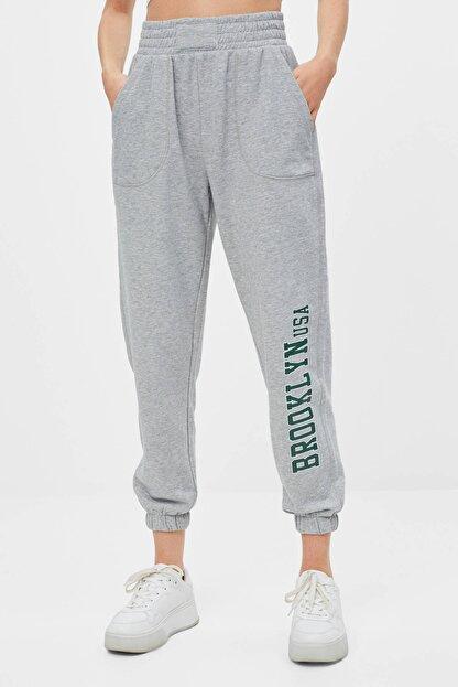 Bershka Desenli Jogger Pantolon