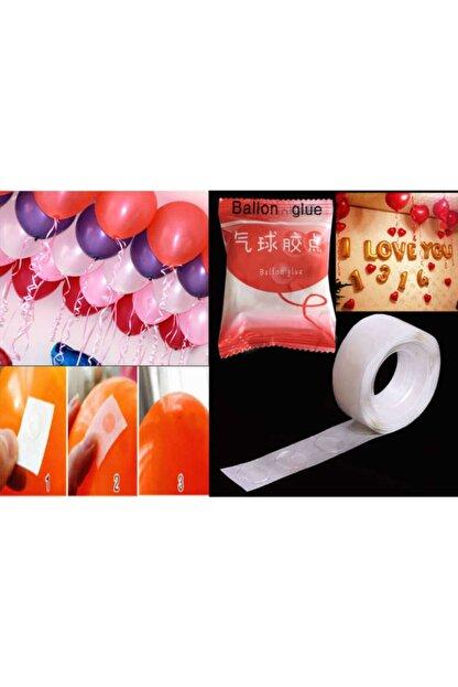 Deniz Party Store Balon Yapıştırma Bandı Çift Taraflı 100 Adet