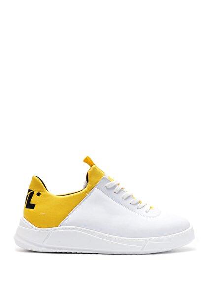 Bulldozer 201434 Beyaz Sarı Erkek Casual Ayakkabı