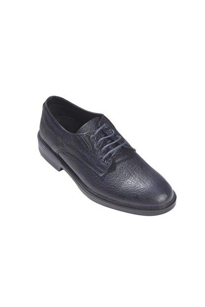 Rekirs Erkek Günlük Klasik Hakiki Deri Siyah Bağcıklı Ayakkabı
