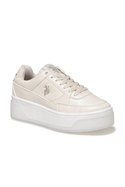 US Polo Assn MADONNA 1FX Bej Kadın Fashion Sneaker 100910525