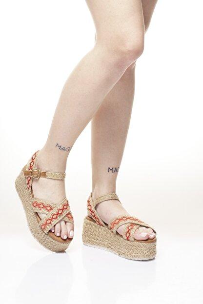 Delos Etnik Hasır Sandalet