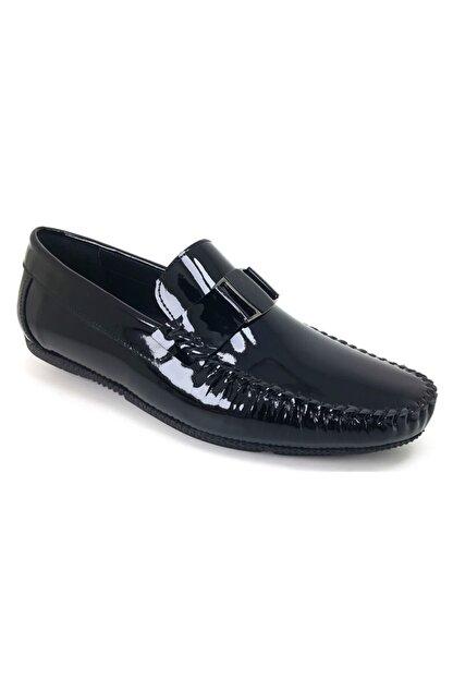 MARCOMEN 11260 Rugan Siyah Hakiki Deri Ayakkabı