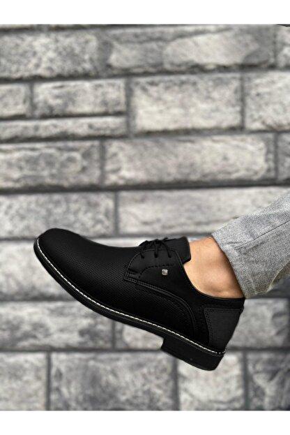 Marsetti Erkek Siyah Klasik Casual Ayakkabı