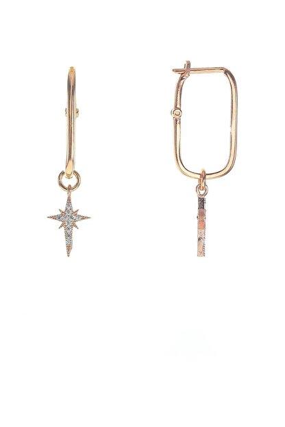 Söğütlü Silver Gümüş Kutup Yıldızı Zirkon Taşlı Göçmen Küpe