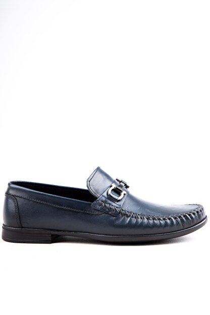 Milano Brava Hakiki Deri Günlük Loafer Erkek Ayakkabı Hsm904 Lacivert