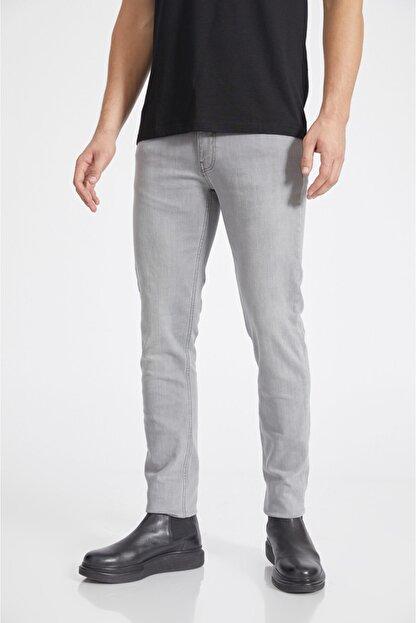 Avva Erkek Gri Slim Fit Jean Pantolon A02y3578