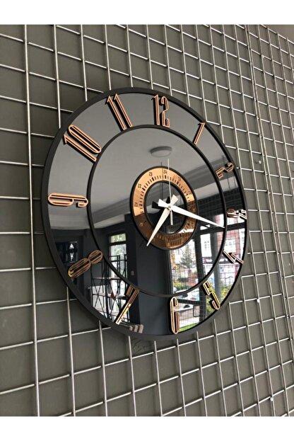 Kuzata Duvar Saati Dekoratif , Büyük Aynalı Duvar Saati Özel Tasarım-50 Cm