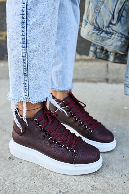 Chekich Ch258 Bt Kadın Bordo Sneaker