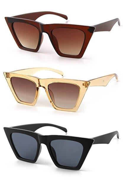 Modalucci Kadın Güneş Gözlüğü 3 Lü Set