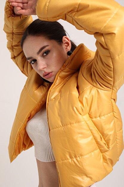 Kokosh Fashion Şişme Kısa Mont Sarı