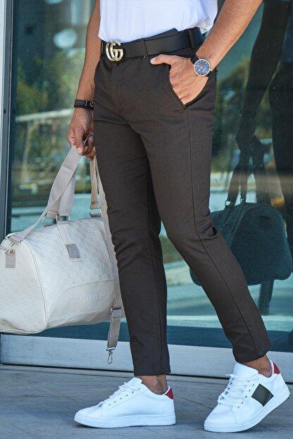 Terapi Men Erkek Slim Fit Keten Pantolon 20y-2200318 Kahverengi