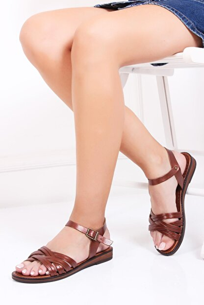 Deripabuc Hakiki Deri Twinkle-3 Kadın Deri Sandalet Dp-0013