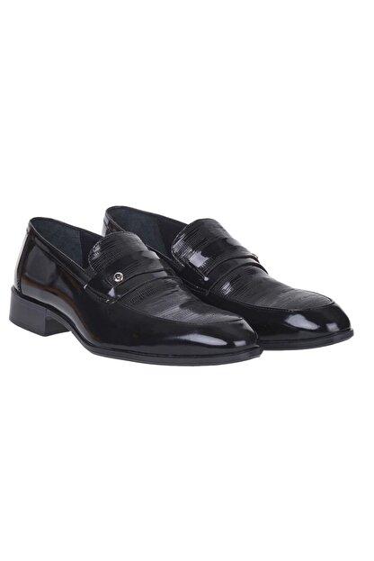 Pierre Cardin 00pc16 Siyah %100 Deri Erkek Rugan Klasik Ayakkabı