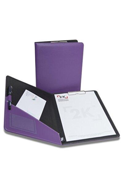 2K Sekreterlik Tablası Kapaklı Suni Deri A4 - Lila
