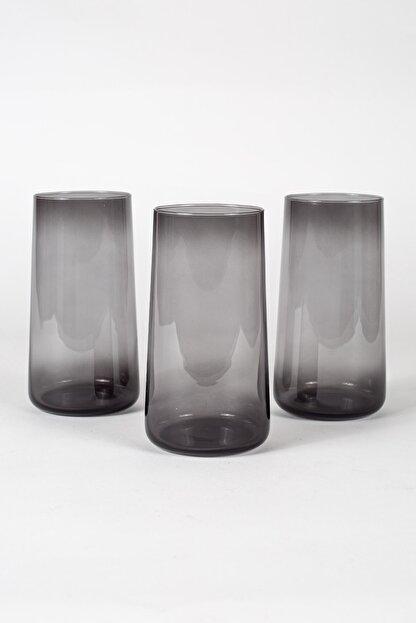 Rakle Shadow 3'lü Meşrubat Bardağı Seti Füme 540 Cc