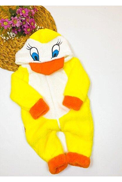 Bebesev Baby Bebesev Peluşlu Welsoft Ördek Tulum - Sarı