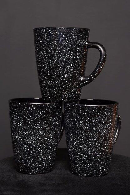 Pural 3'lü Granit Siyah Vega Kupa