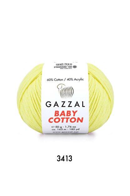 Gazzal Baby Cotton 3413 A.sarı 50 Gr.