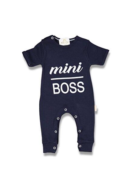Murat Baby Unisex Bebek Lacivert Mini Boss Kısa Kollu Tulum