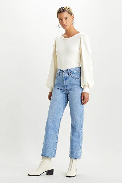 Levi's Kadın Mavi Yüksek Bel Pamuklu Ribcage Jeans Kot Pantolon 72693