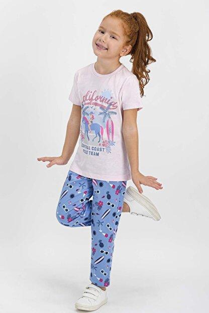 US Polo Assn U.s. Polo Assn Lisanslı Krem Kız Çocuk Pijama Takımı