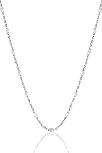 Söğütlü Silver Gümüş Rodyumlu  Pullu Gurmet  Zincir.