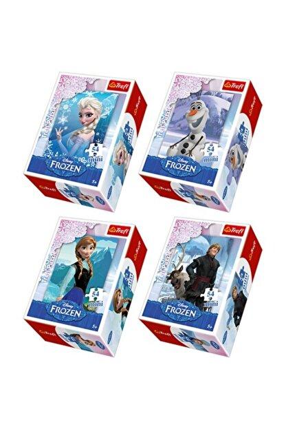 DİSNEY Frozen Mini Puzzle Set 4 Adet 54 Parça Puzzle Elsa Anna Olaf Kristoff