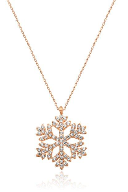 Papatya Silver Kartanesi Kolye - Rose Gold Kaplama 925 Ayar Gümüş - Uvps100177