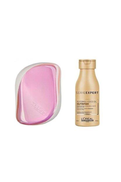 L'oreal Professionnel Nutrifier Şampuan 100ml+ Compact Styler Pink Holographic Saç Fırçası