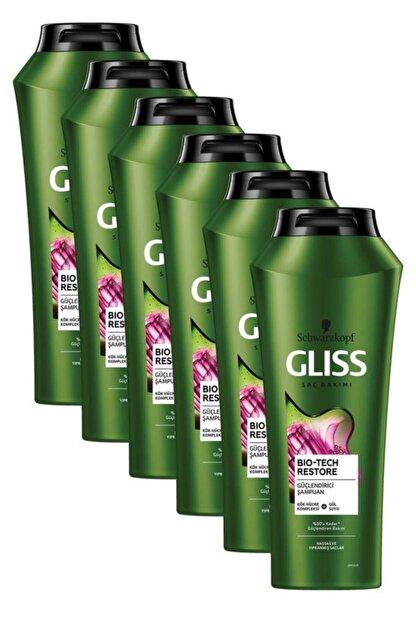 Gliss Bio-Tech Güçlendirici Şampuan 500 ML 6'lı