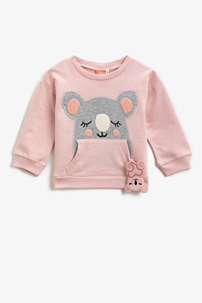 Koton Pembe Kız Bebek Sweatshirt