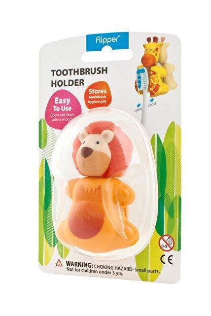 Flipper Flıpper Hıjyenık Diş Fırçası Saklama Kabı - Aslan Figürlü