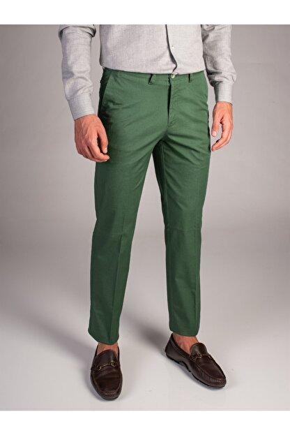 Dufy Yeşil Düz Sık Dokuma Erkek Pantolon - Regular Fıt