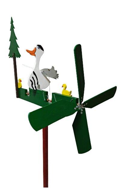 Rüzgaristan Ahşap Rüzgar Gülü Uzun Boyun Ördek
